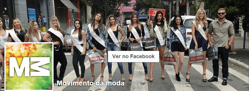 página no facebook de Movimento da Moda